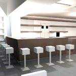 Blu Bar di Spilimbergo rendering progetto bar