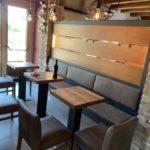 B&B-Clauiano - Arredamento interni - particolare tavoli