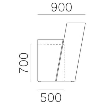 Bancone bar Oblique misure laterali